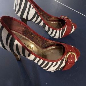 Chic Zebra Print heels